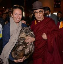 Wombat Awareness Organisation - Brigitte, the Dalai Lama and Wombat