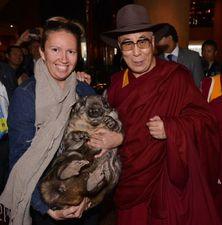 Wombat Awareness Organisation - Brigitte, the Dalai Lama and Wombat
