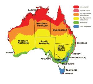 Australian Climate Map
