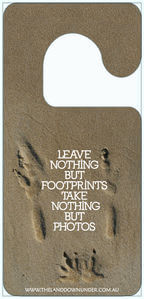Leave Nothing But Footprints Hanger