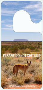Outback Dingo Do Not Disturb Hanger