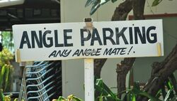 Angle Parking, any angle with do at the Daly Waters Pub in the Northern Territory. Photo by Penny Smith