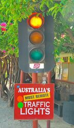 Australias most remote traffic lights. Photo by Penny Smith