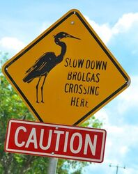Brolgas Crossing Sign - photo by Penny Smith