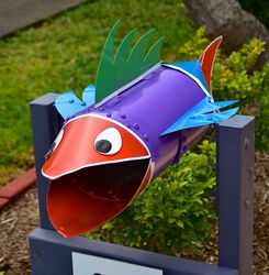 Colourful Fish Letterbox - Penny Smith