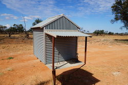 Corrugated Iron Shed Letterbox - outback NSW