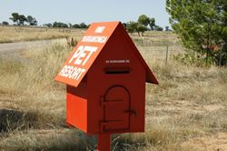 A pet resort has made good use of a dog kennel for their letterbox - Victoria