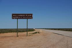 A welcome sign when you are doing a road trip across southern Australia - South Australia