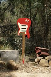 Electric Guitar? Guess again, it's their letterbox - Victoria