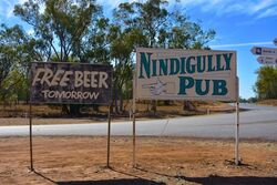 Free Beer Tomorrow - Nindigully Pub Queensland. Photo by Penny Smith