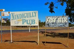 Free Beer Yesterday - Nindigully Pub Queensland. Photo by Penny Smith