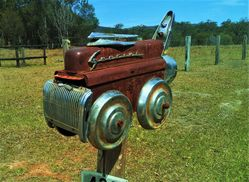 A true classic - a hot rod letterbox - photo by Vivienne Tracy