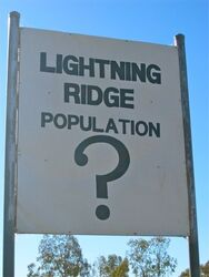 Lighting Ridge Population - who knows? Photo by Penny Smith