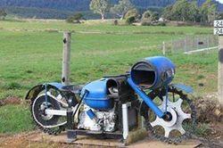 Motorbike Letterbox - Tasmania - by Sandi Kogtevs