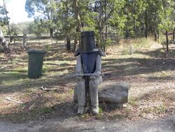 The postie had better only bring good news with Ned Kelly waiting for him.
