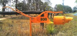 Old farm equipment makes a great piece to work with for letterboxes - photo by Vivienne Tracy