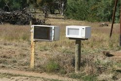 Recycling at it's best - microwave letterboxes - zap those bills!