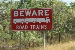Trains on roads instead of rails - give these guys room! - Northern Territory