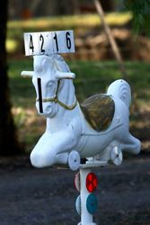 Great use of a childs rocking horse - Victoria