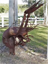 Rusty Yabby Letterbox - photo by Vivienne Tracy