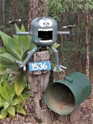 Scary Letterbox - this is how I feel when the postie brings my bills. - photo by Vivienne Tracy
