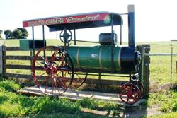 Can you believe it - this old Steam Engine is now a letterbox! - Tasmania