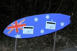 Surfing Oz letterbox - photo by Penny Smith
