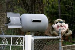 Tassie Devil with an Acme Bomb Letterbox