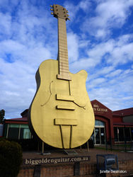 The Big Golden Guitar - Tamworth NSW by Janelle Swainston