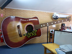 The Big Playable Guitar - Narrandera NSW by Janelle Swainston