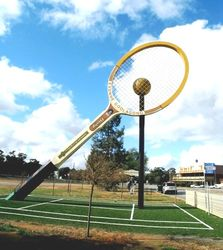 The Big Tennis Racquet - Barellan NSW by Jill Fish