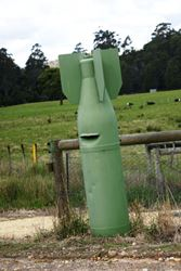 Undetonated Bomb? No, this is just their letterbox! - Tasmania