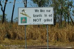 Fire Warning - We like our lizards frilled not grilled - Northern Territory