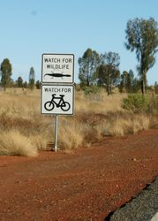 Watch out for Lizards - Uluru - Northern Territory
