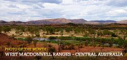 West Macdonnell Ranges of Central Australia are beautiful in the summer.