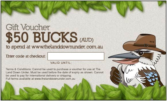 50 Gift Card for The Land Down Under