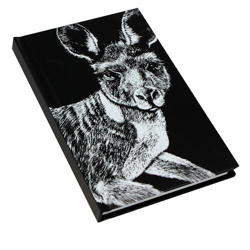Black and White Kangaroo Note Book A6 size