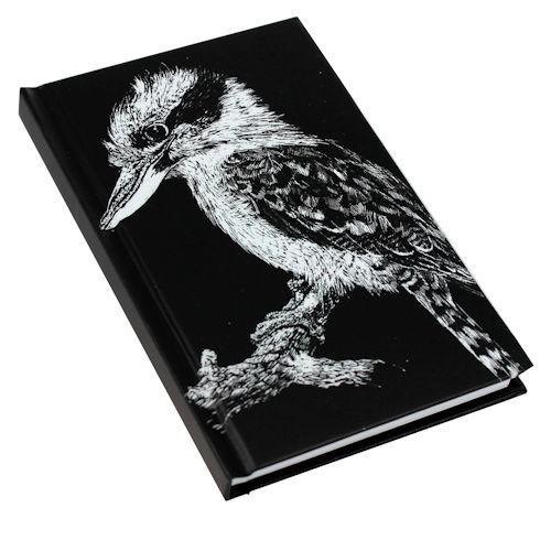 Black and White Kookaburra Note Book A6 size