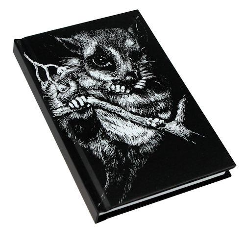 Black and White Possum Note Book A6 size