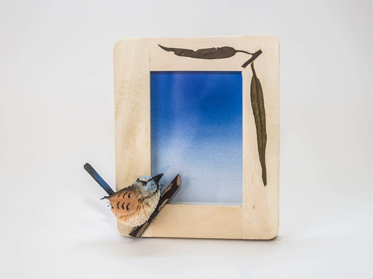 Blue Wren Photo Frame - The Land Down Under