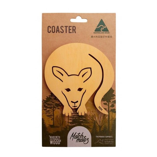 Coaster - Kangaroo made with Australian Certified Pine