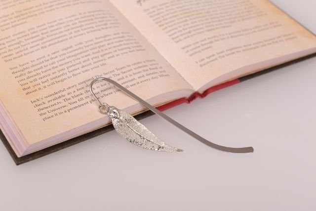 Eucalyptus Red Gum Real Leaf Bookmark - Silver