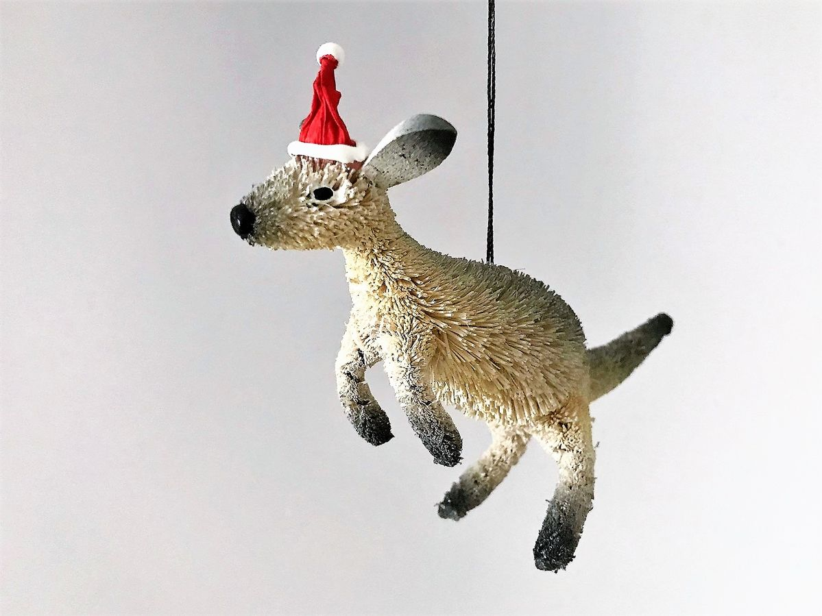 Grey Kangaroo Christmas Tree Decoration - The Land Down Under