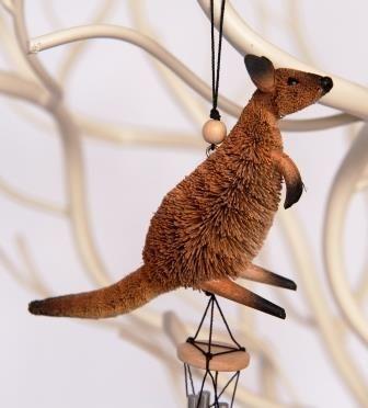 Kangaroo Wind Chime - The Land Down Under
