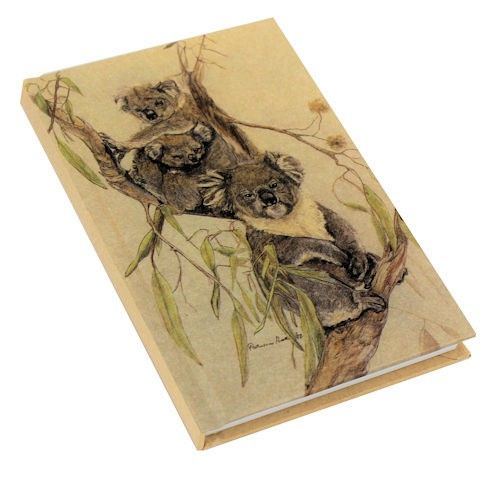 Kraft Koala A6 Note Book. 10.5 cm x 15 cm. Available at The Land Down Under online store.