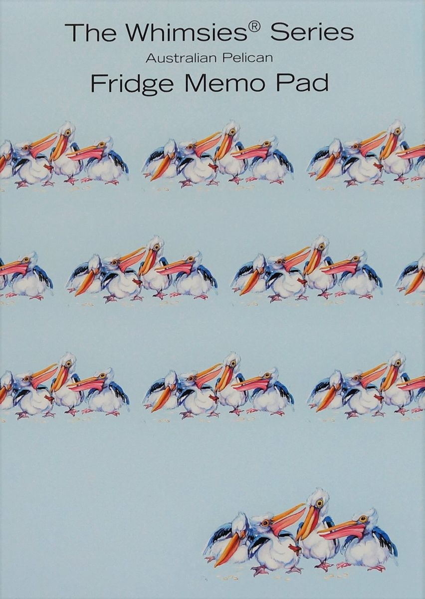 A6 sized Memo Fridge Pad - Australian Pelican