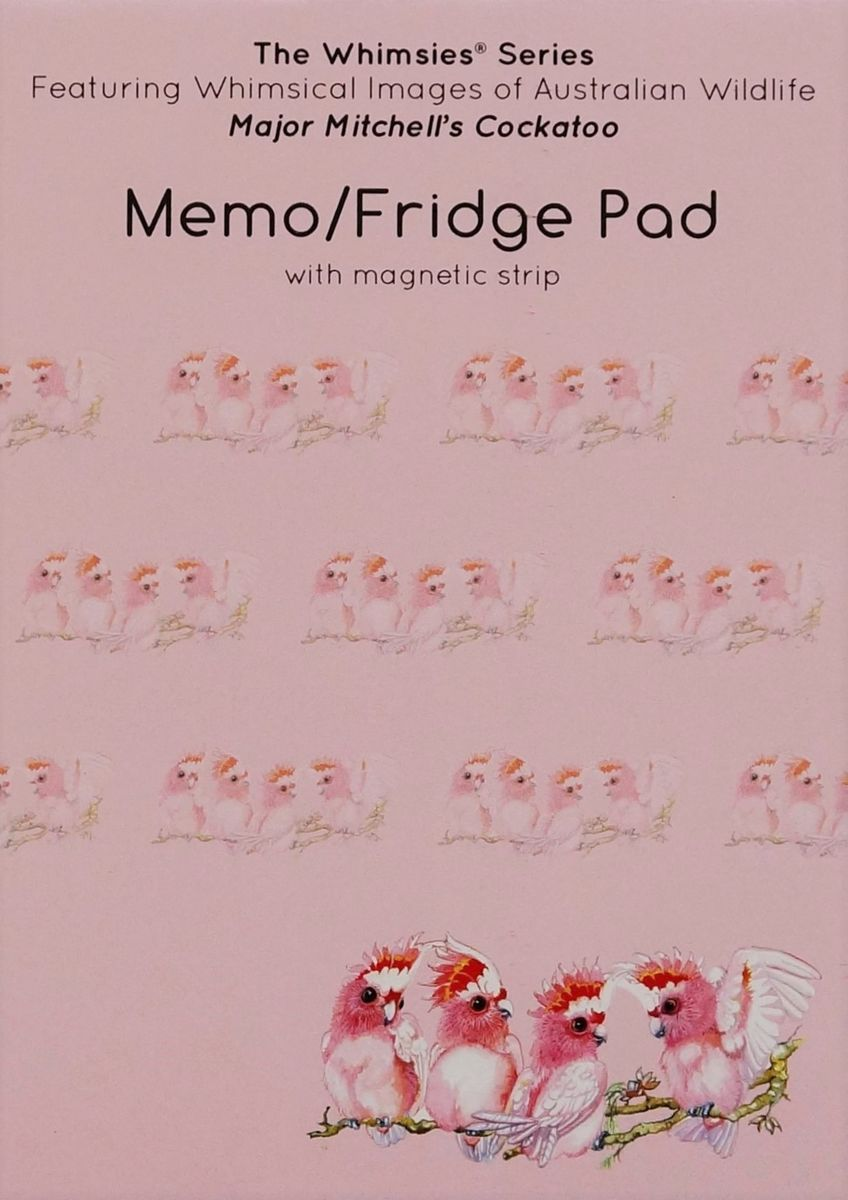 A6 Memo Fridge Pad - Major Mitchell Cockatoo
