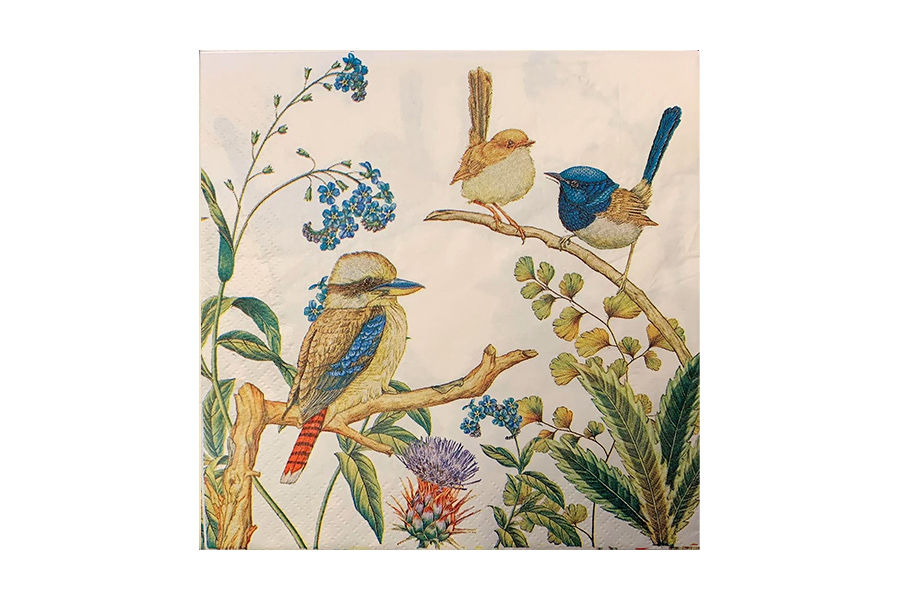 Napkins  Kookaburra and Wrens - Serviettes