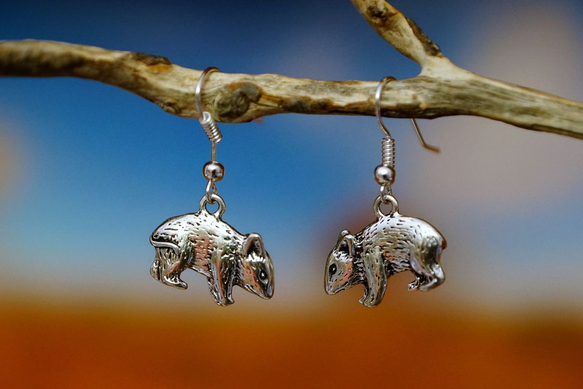Native Bush Rat Earrings   Silver   Australian Made   The Land Down Under