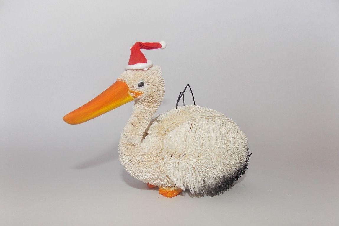 Pelican Christmas Hanging Ornament